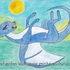 1000er Wunschbild für Wuselwolf - Eiswolfdrache