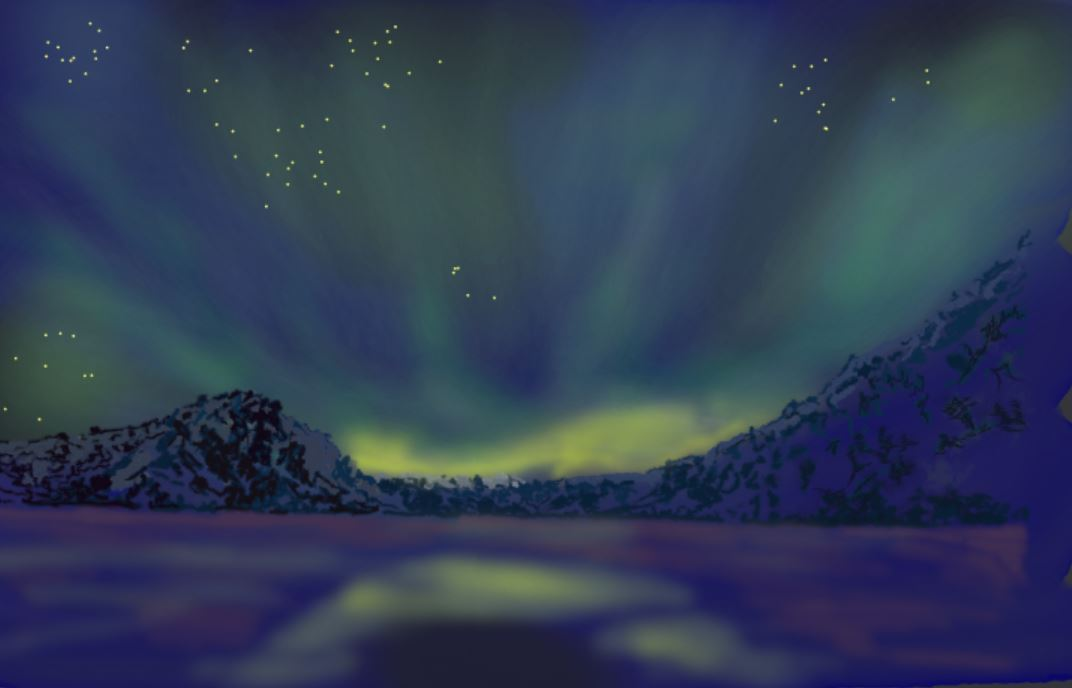 Nordlichter digital mit ArtRage Lite von Zwerg