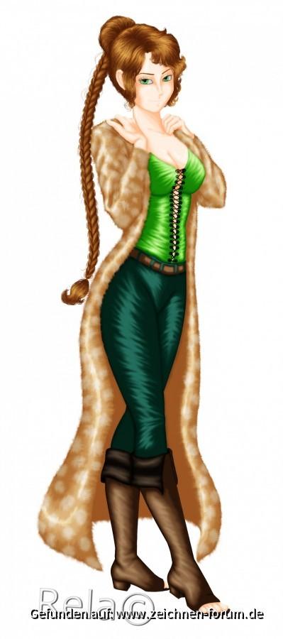 Frau mit Mantel von Rela