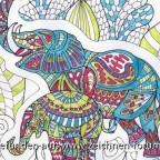 Zentangelefanten