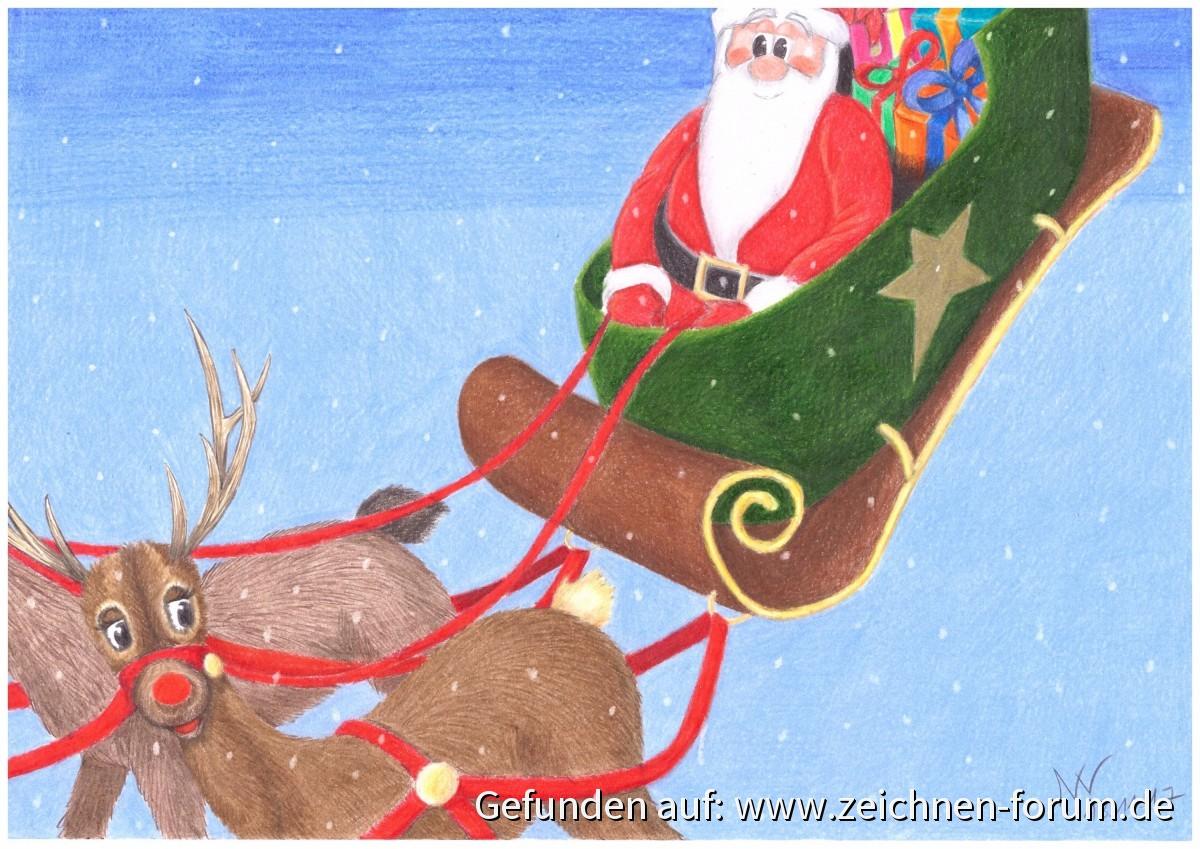 Weihnachtsschlitten - Galerie - Zeichnen Forum