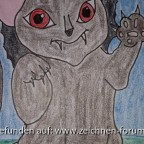 Vampir-Teufels-Katze