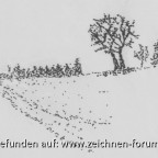 Minimalistische Winterlandschaft
