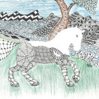 Zentangle-Pferd