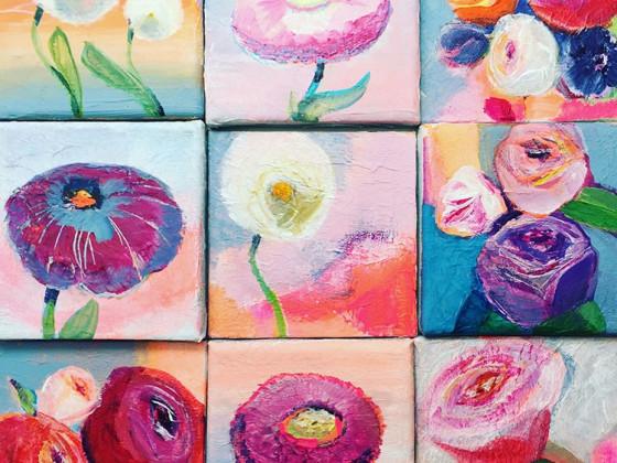 Acryl Mini Blumen