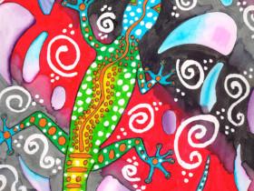Aborigine Eidechse