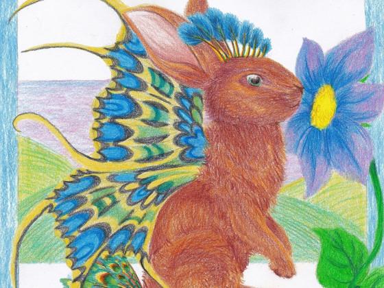 Schmetterlings-Pfau-Kaninchen