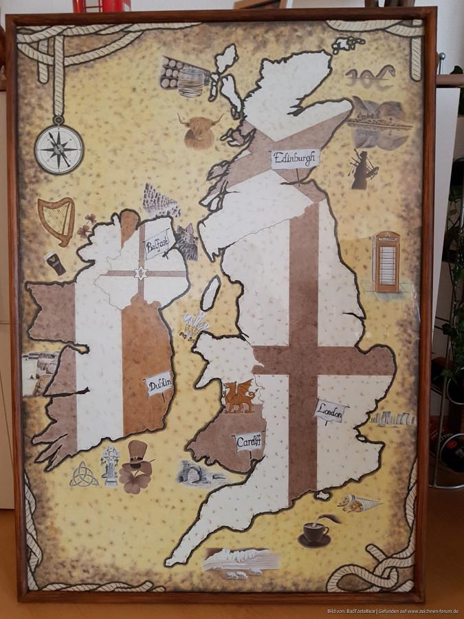 Karte von Großbritannien und Irland