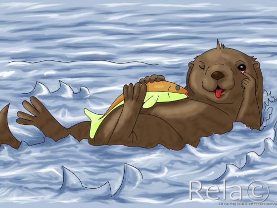 Frecher Otter