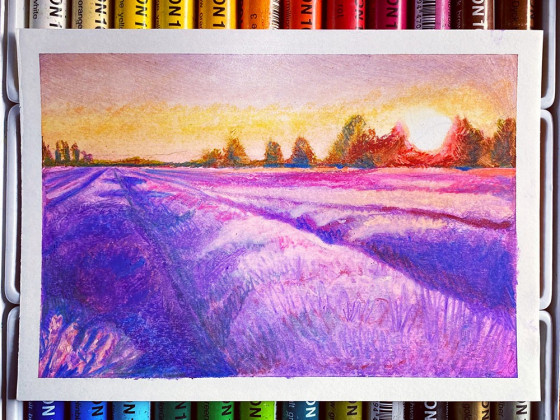 Mediterrane Lavendelfelder
