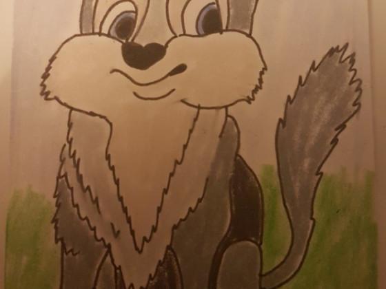 Pummeliger Wolfswelpe
