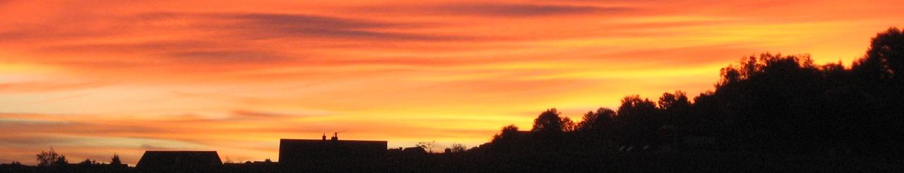 Zeichenübung 41 - Sonnenuntergang